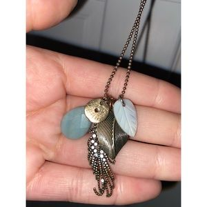 AMERICAN EAGLE - Rustic Feather Chain Necklace
